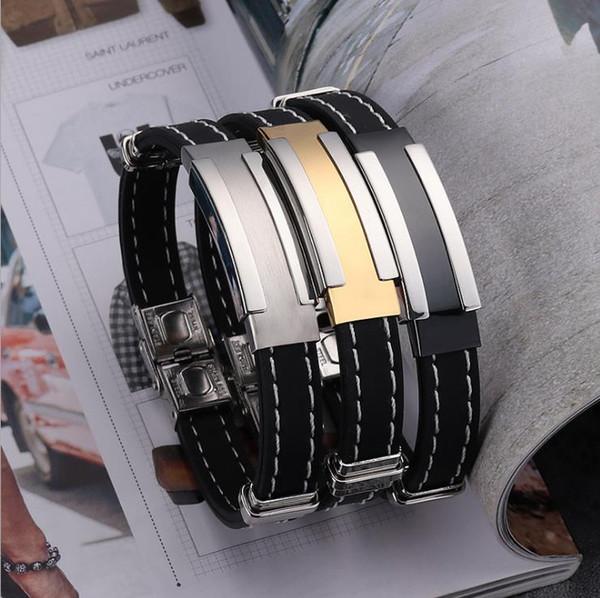 donne bracciali designer di gioielli di lusso in acciaio al titanio caldo braccialetto in silicone nuovi monili personalità maschile