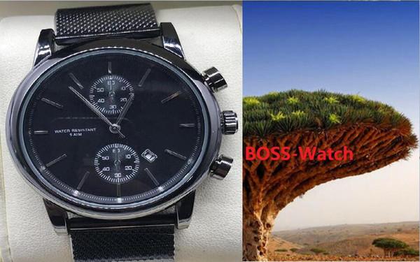 erkekler için Moda Chronograph eğlence Erkek Saatler Paslanmaz Çelik Kuvars saatı Kronometre izle İzle relogies En Hediye Relojes