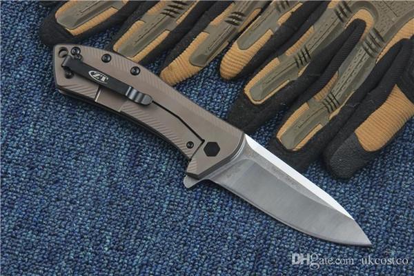 High End Tolerância Zero Ferramentas EDC Utilitário Flipper ZT0801BRZ Faca Dobrável M390 Lâmina De Cetim de Acampamento Ao Ar Livre Caça facas Táticas P814Q