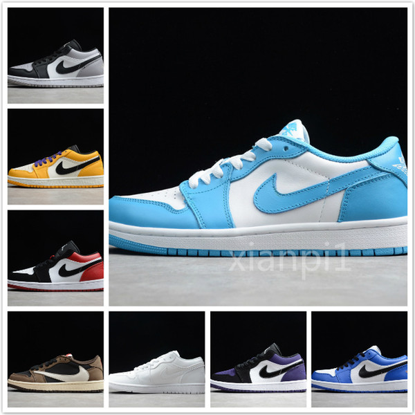 top popular 2020 Cair 1 JORDAN 1 Arrival Off OG Top 1 Men Black Gold 1s Sneakers Low help NUC Outdoor Trainers white running Shoes Basketball Shoes 2020