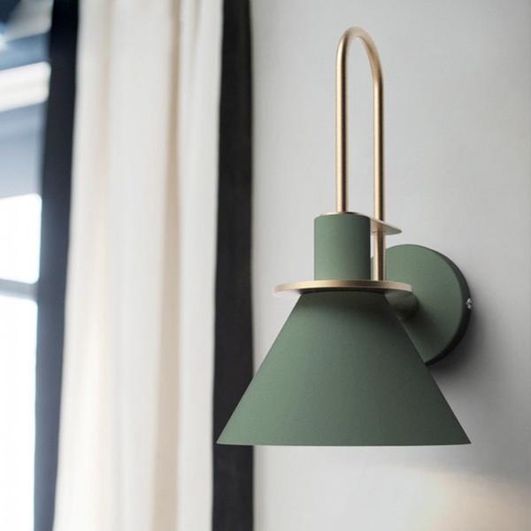 Acheter Vent Industriel Lampes Murales Nordic Salon Chambre Modèle  Appliques Murales Simple Allée Escalier Miroir Lumière Chambre Chevet  Applique ...