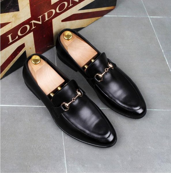2019 New PU Leather Casual Driving Oxfords Party Flats Shoe Mens Loafers Moccasins Italian Men Wedding Shoes S57