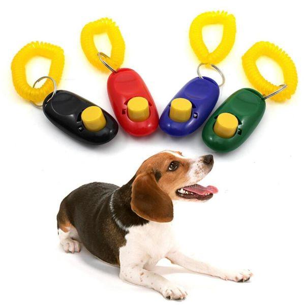 Agility Dog Clicker Entrenamiento de mascotas Clicker Pet Dog Cat Training Silbatos Llavero Correa de muñeca Pet Dog Trainings Productos Suministros regalo