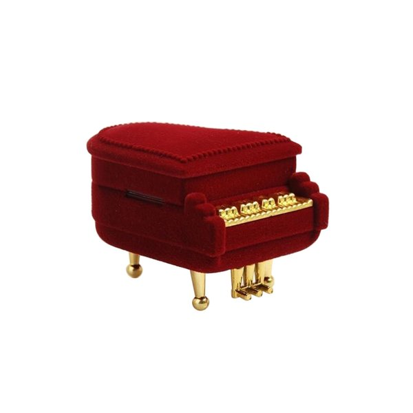 Piano Ring Box Earring Pendant Jewelry Storage Case Gift Case