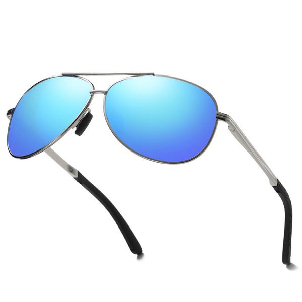 054a05d6a Alumínio Magnésio Polarizada Óculos De Sol Dos Homens Motorista Espelho  Óculos de Sol Masculino Pesca Feminino