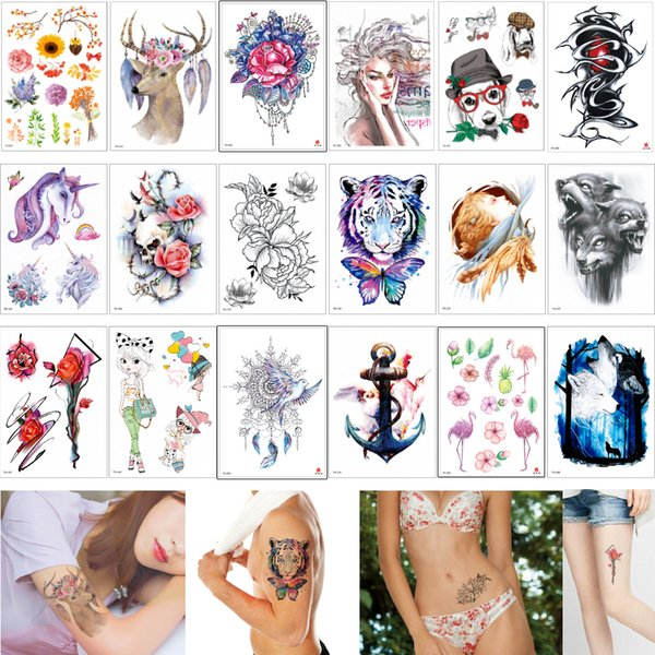 14.8*21cm TH Series Temporary Tattoo Stickers Body Art Painting Waterproof Decal Paper for Women and Men 3D Body Small Fairy Tattoos Designs