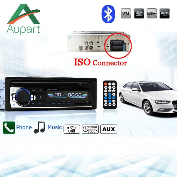 Car Stereo Radio miniJSD520 12V del coche de Bluetooth en el tablero 1 DIN FM Aux MP3 Soporte de entrada / MP4 USB MMC WMA AUX IN TF del jugador de radio