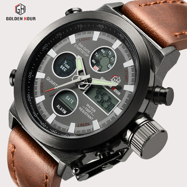 Top Brand Luxury Men Swimming Quartz Analog Outdoor Sports Watches Military Male Clock Led Display Watch Relogio Masculino Gift Y19070603