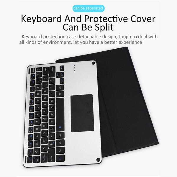 10,8-Zoll-Bluetooth-Tastatur für Huawei M6 Ultradünne abnehmbare drahtlose Bluetooth-Tastaturen Ledertasche für Huawei M5 / M5 PRO