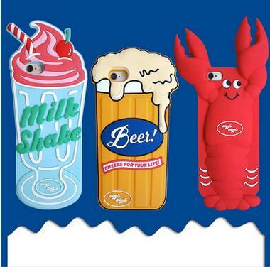 11 DHL Crawfish Ice Cream Beer Cell Shell iphone 6 6s 6p 6sp7 8 7p 8p x xr xs max Silica gel wrapped anti-falling soft sle
