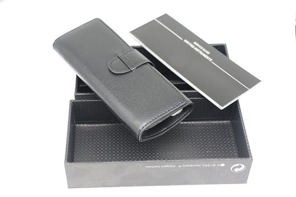 Vendita calda di alta qualità di lusso in vera pelle nera mb sacchetto sacchetto penna + scatola di lusso + manuale