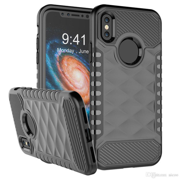 2 In 1 Hybrid Armor Dual Layer Shockproof Case Cover For iPhone x 8 7 6s Plus Samsung S8 Plus Note 8 LG Stylo Stylus 3 ZTE Z981 Opp Aicoo