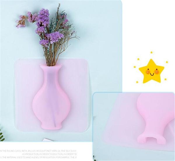 New Décor Criativo Silicone Vasos de Flores Artesanais Vasos Ao Ar Livre Acessórios de Decoração Para Casa um Vaso Para Flores de Escritório Vasos Para Jardi