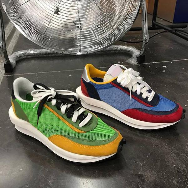 Nuevo Sacai LDV Waffle Daybreak Trainers Zapatillas de deporte para hombre Diseñador de moda Breathe Tripe S Calzado deportivo para correr Tamaño Eur36-45 Con caja
