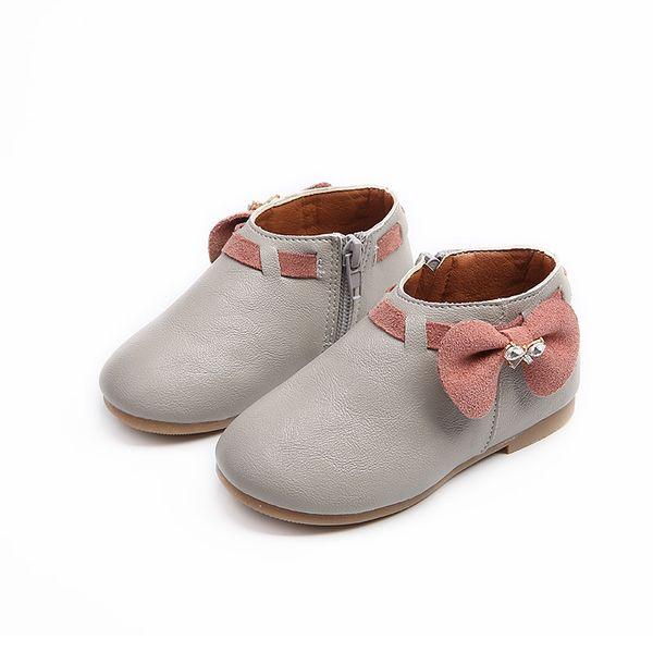 Nouveau 2019 Filles Enfants Enfants Arc En Cuir Toddler Chaussures Pour Bébé Printemps Automne Rose Bande Dessinée Princesse Chaussures