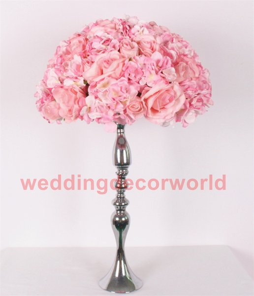 No Flowers Including Table Centerpieces Decor Wedding Backdrop Artificial Flower Ball Centerpieces Without Orchid Silk Floral Decor0628 Themed