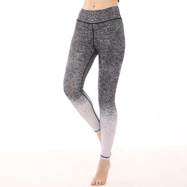 Flor Impreso Leggings de Fitness Mujeres Gimnasio Medias Cintura Alta Pantalones de Yoga Leggings Deportivos Pantalones de Entrenamiento Femeninos Pantalones de Correr de Yoga