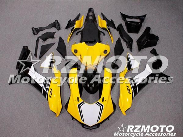 Novo ABS Molding motocicleta Plástico Fairings Kits Fit Para YAMAHA YZF-R1-1000 2015-2017 15 16 17 Carenagem conjunto de carroceria personalizado amarelo preto