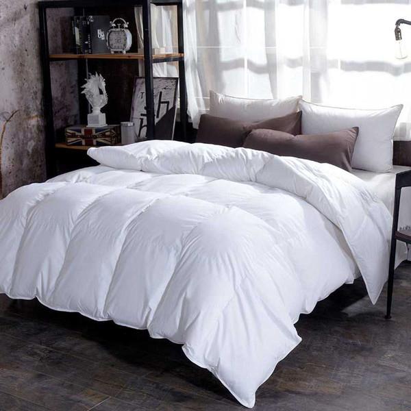 Chpermore 95% weiße Gans / Daunenbettdecken Verdickung Winterdecken 100% Baumwolle decken König Königin Twin Full Size