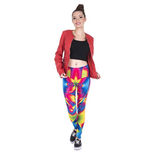 Woman Leggings Ultra Color Face 3D Digital Full Printed Comfortable Pencil Fit Lady Runner Sports Trousers Girl Skinny Gym Jeggings (Y43865)