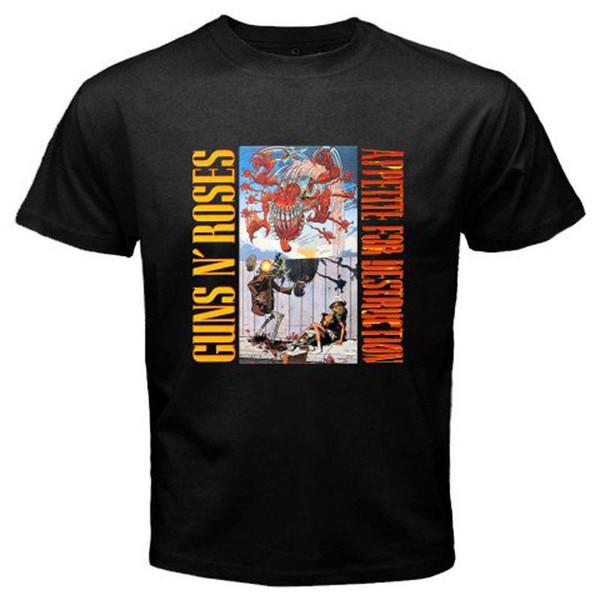 T Shirt Sale Uomo Regular O-Neck manica corta New Guns N 'Gnr Roses Appetite per Destruc Tee Shirt