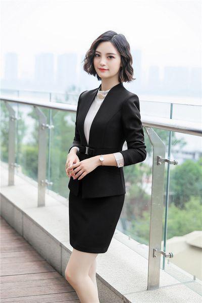 tailleur jupe noire
