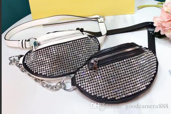 Wang Vita bag di lusso in edizione limitata pieno di diamanti borsa mezza luna lanlingA005