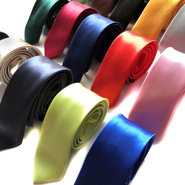 tie 5cm solid color Men's casual Korean version of narrow polyester silk tie Cangzhou factory wholesale custom