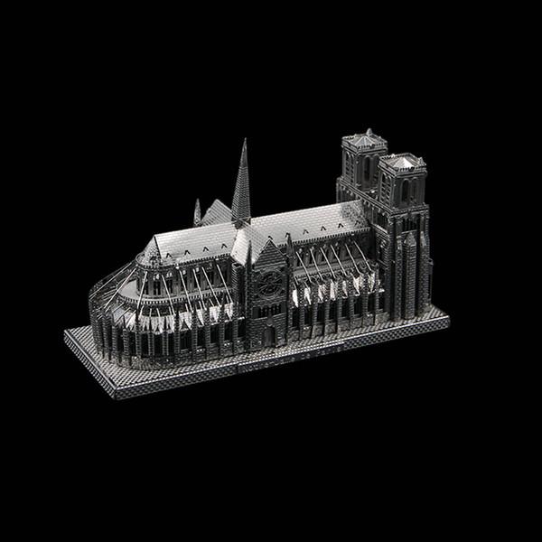 Paris mimari bulmaca hediye Notre Dame de édrale Üç boyutlu bulmaca metal modeli manuel DIYCath