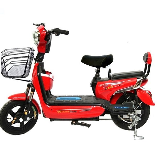 best selling 14-inch Adult Electric Bike Lasting Battery 48V Voltage Two-wheeled Manned Electric Bicycle Motorcycle