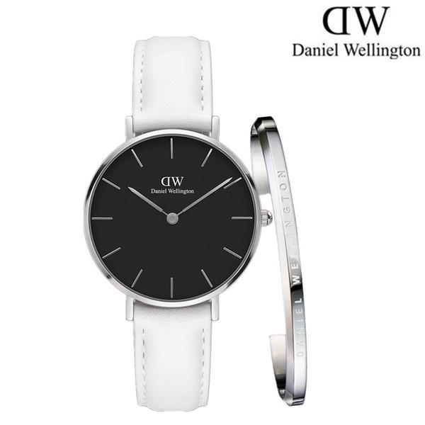 Relógio feminino Daniel novo 32 MM relógio de quartzo de moda de aço inoxidável branco Zegarek relógio menina elegante e D-W pulseira de jóias por atacado