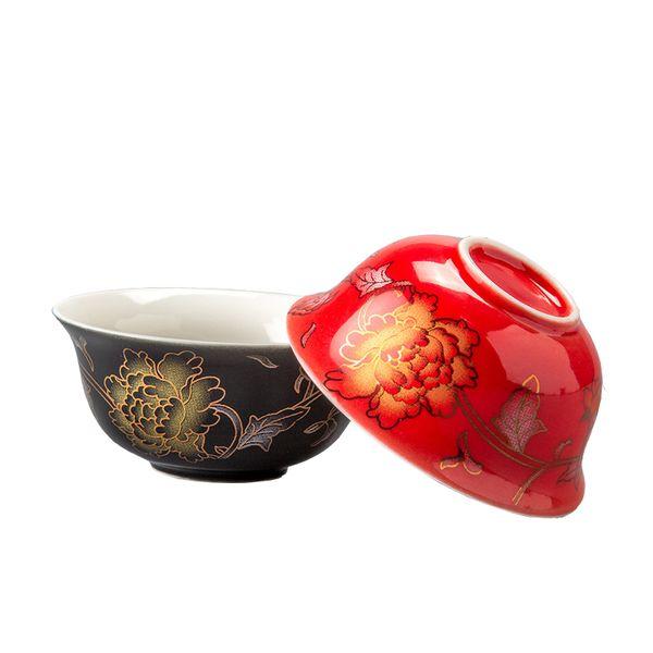 Chinese traditional Golden dragon tea cup 1pcs,high quality ceramic teacup Puer cup set,ceramic kiln Top Grade Porcelain