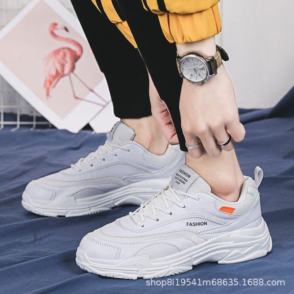 Teenagers College Style 2019 Nuevos zapatos de verano para hombre Versión coreana Low Band Fashion Men's Flying Leisure Sports Shoes