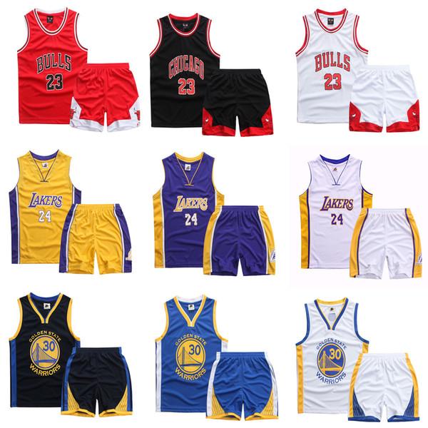 Brand New 2019 Jungen Mädchen Sommer Weste Basketball Jersey Kinder atmungsaktiv und schnell trocknend Sport Anzug Kinder Casual Sportswear Y190518