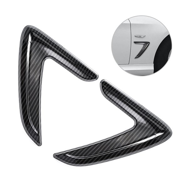 Side Air Vent Cover Trim Fender Sticker Decor for 3 Series F30 Carbon Fiber