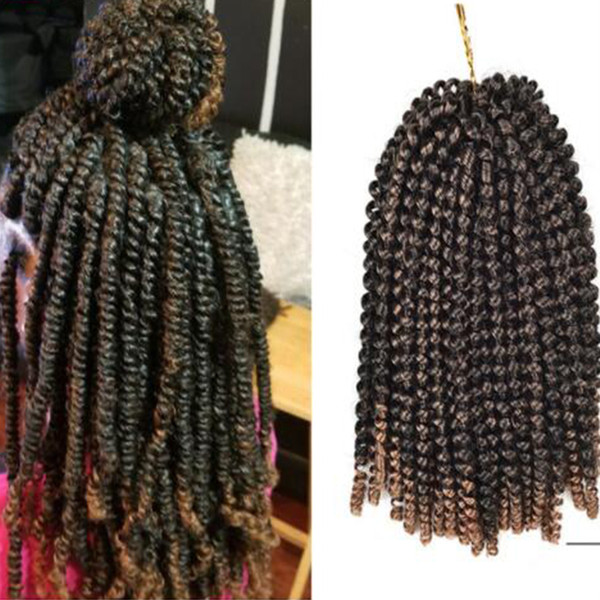 3 packs Kanekalon Crochet Hair Braids 8Inch Soft Spring Twist Hair Extension Micro Synthetic Curly Weave Crochet Braids 30Roots