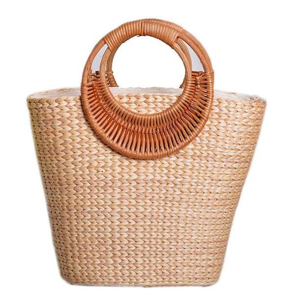 Borse estate delle donne borsa femminile Boemia della paglia della spiaggia del progettista dell'annata Lady Viaggi Rattan Knitted Tote casual