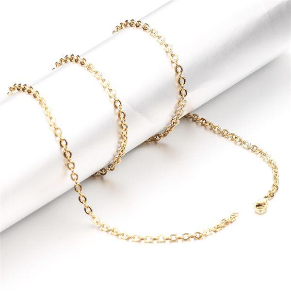 Großhandelspreis Edelstahl Gold Schwarz Farbe Unterschiedliche Dicke Länge Körper Kette Halskette Männer Link Ketten Schmuck