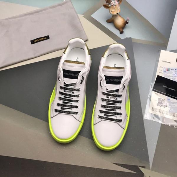 Moda 2019 sapatos casuais homens de luxo para homem sapatos sapatos de amarrar dos homens marca de luxo de alta qualidade com embalagem caixa original e logotipo