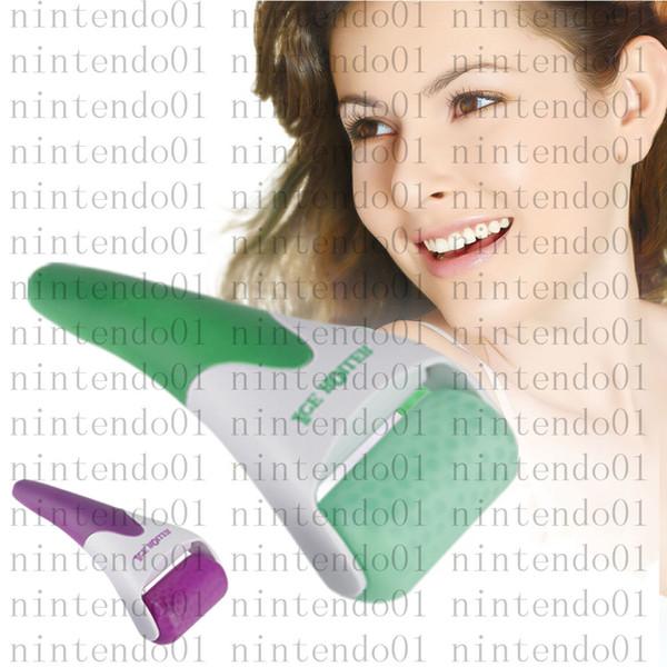 Roue en acier inoxydable Nouvelle peau Cool Roller Ice Therapy Froid Facial derma Massage Kit de soins de la peau kit