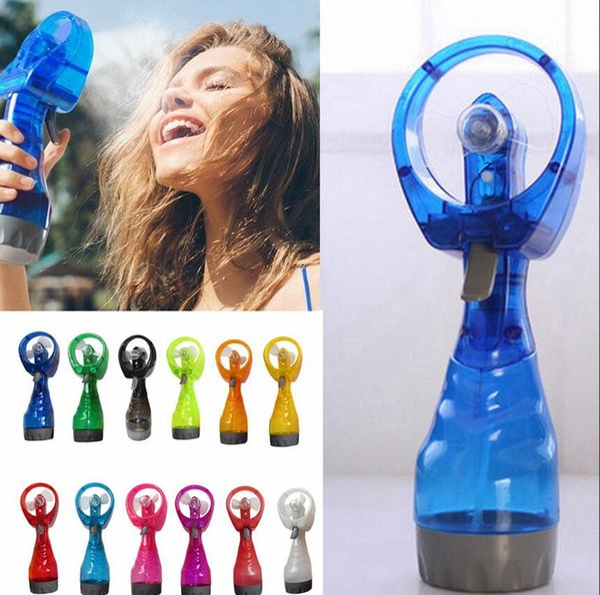 Mini El Fan Taşınabilir Seyahat Kolu Su Sisi Fan Yaz Spor Seyahat Soğutucu Fan Favor LJJA3693-2 Sprey Şişe Soğuk Spreyi Held