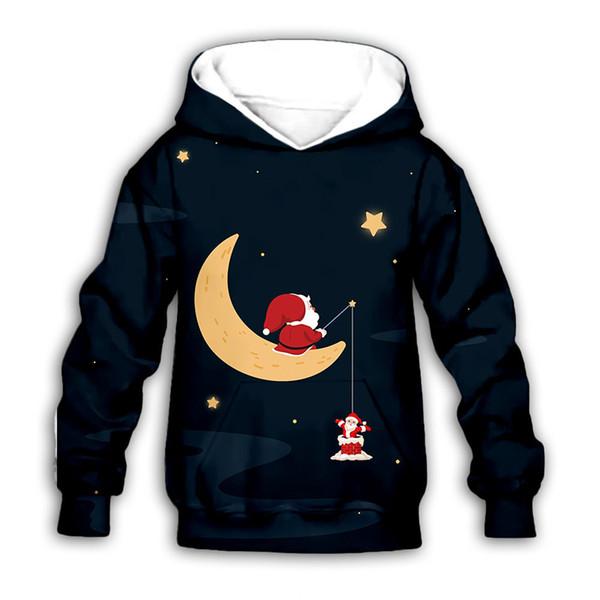 Подростки Рождество толстовки мальчики 3D печати мультфильм с капюшоном дети дизайнер одежды мальчики повседневная одежда девушки зима с длинным рукавом одежда 06