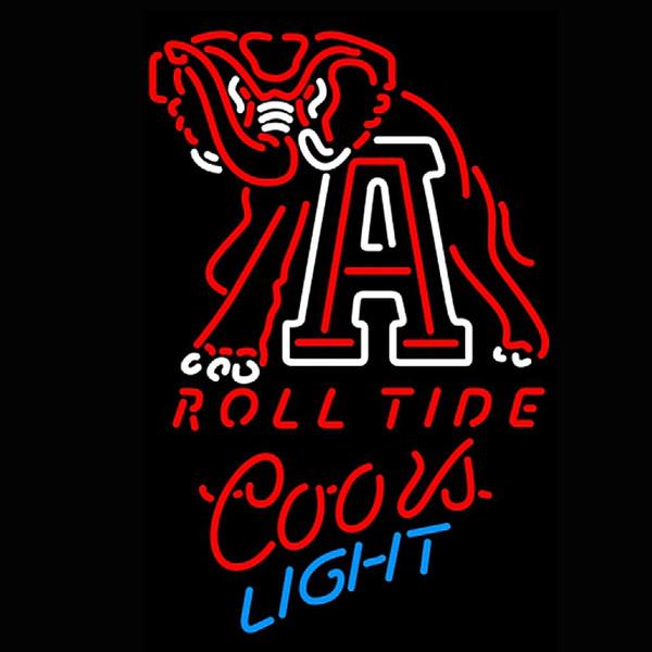 Coors Light NCAA Alabama Roll Tide University Neon Sign Beer Bar Pub Store Wall Windows Display Neon Light