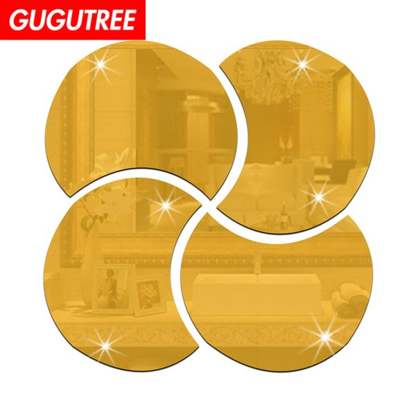 Decorate Home 3D flower mirror art wall sticker decoration Decals mural painting Removable Decor Wallpaper G-221