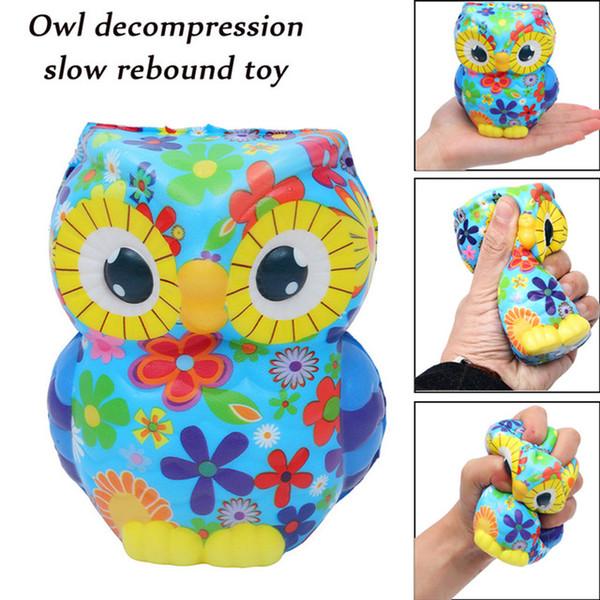 jumbo Squishy Antistress Squishe animalsAdorable Owl Squeeze Cream Profumato Aumento lento Per bambini adulti Giocattoli antistress