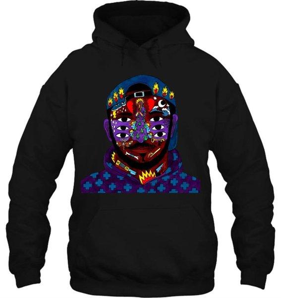 Mens Hoodie Sweatshirt Kay Tranada Sweater Black