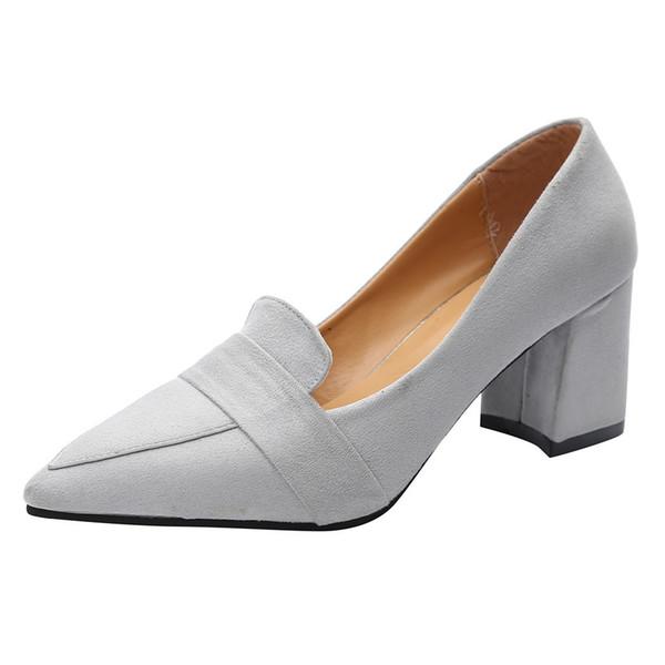 Designer de Sapatos de Vestido das Mulheres Apontou Selvagem Boca Rasa de Salto Alto Único Senhoras 2019 Nova Chegada Deslizamento Na Primavera Casuais Sandalias