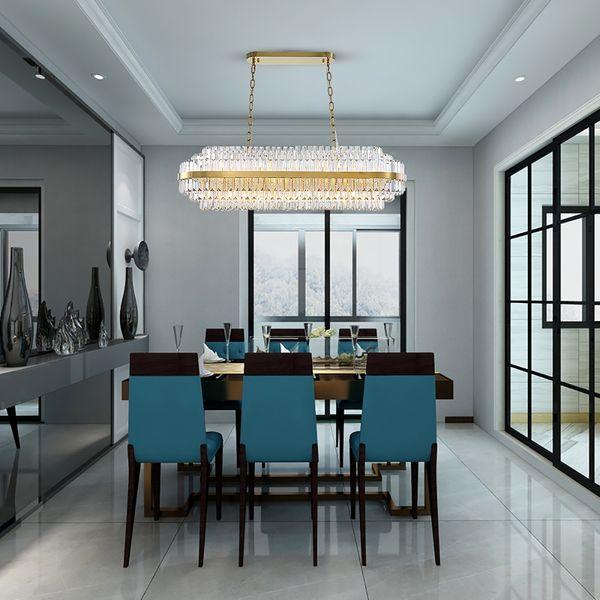 Youlaike Luxury Chandelier Lighting For Dining Room Modern LED Crystal  Light Fixtures Large Home Decor Lustres De Cristal Purple Chandelier Paper  ...