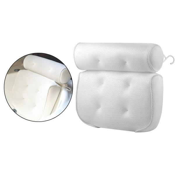best selling Suction Up Bath Tub Pillow Spa Cushion Neck Shoulder Back Relaxation Massage