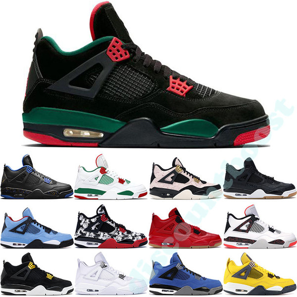 4S Bred 2020 What The Basketball Shoes 30th Anniversary Laser Silt Red Splatter Singles Day LightninX Pure Money Oreo Men 4 Sneakers 40-47